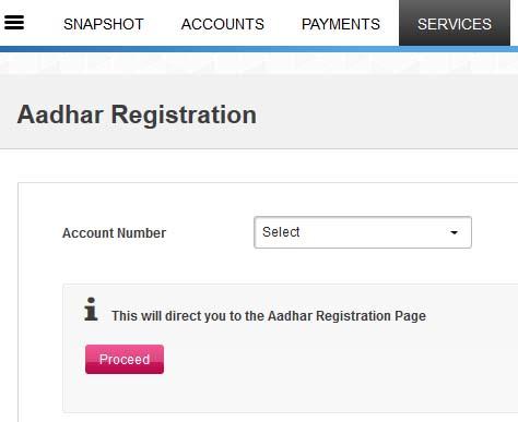 axis bank aadhar card registration