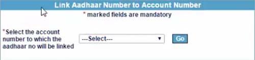 Select IOB Bank to Link Aadhaar