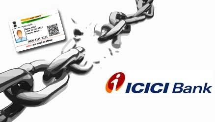 Unlink Aadhaar from ICICI Bank Account