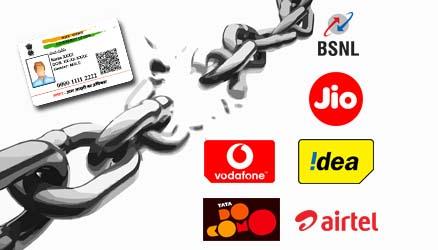 Delink Aadhaar from Airtel, Idea, Vodafone, Jio, BSNL, MTNL and Docomo