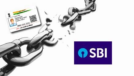 Delink Aadhaar from SBI Bank Account