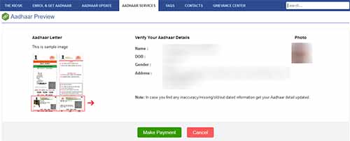 Order Original Aadhaar Card Reprint Preview