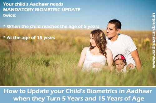 How to update your Child's Biometrics in Aadhaar when they Turn 5 Years and 15 Years of Age