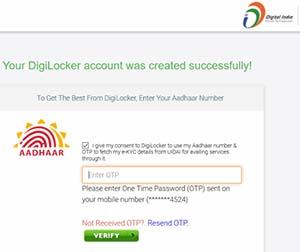 Digilocker Aadhaar OTP