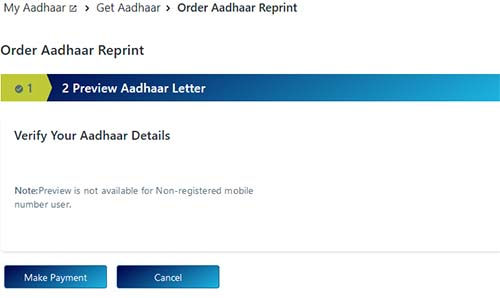 Order Aadhaar Preview Not Available