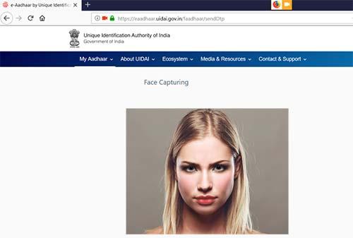 Aadhaar face capture
