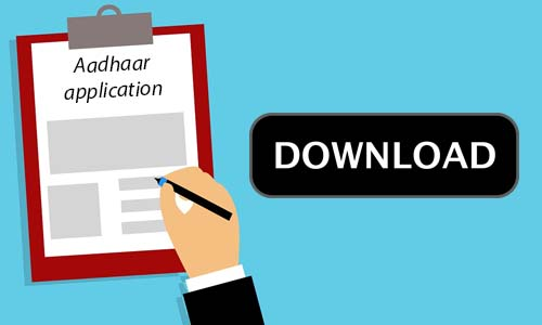 Aadhar Card Application Form Download PDF