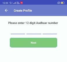 mAadhaar App Create Profile