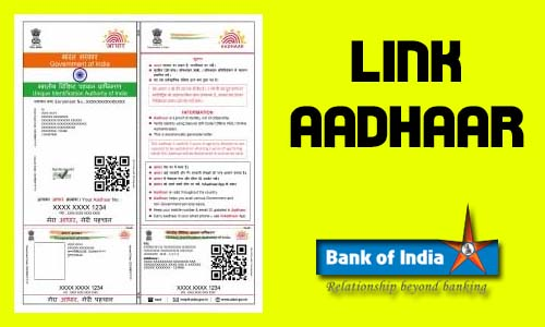 Link Aadhaar Card to Bank of India