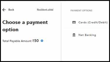Update Aadhaar Payment